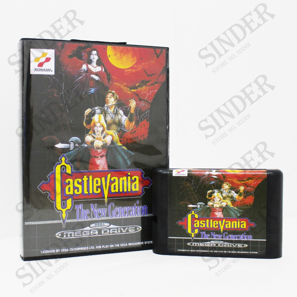 Castlevania The New Generation Boxed Version 16bit MD Game Card For Sega Mega Drive And Genesis