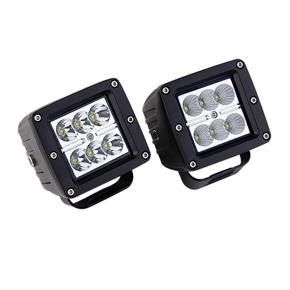 2pcs/lot 18W LED Work Light for SUV Truck AWD ATV Tractor Motorcycle Offroad Fog Light LED Worklights External Light Save on 40w 2pcs lot red led light 25 31mm spst 6pin on off g128 boat rocker switch 16a 250v 20a 125v car dash dashboard truck rv atv home