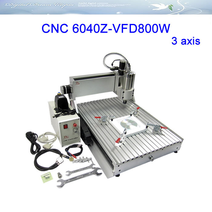 Free ship & TAX ! 3axis CNC Router LY 6040Z-VFD800W Engraving Machine ,cnc cutting machine,factory sale!!! 3axis mini cnc router ly cnc3020z vfd1 5kw engraving machine with sink cnc cutting machine