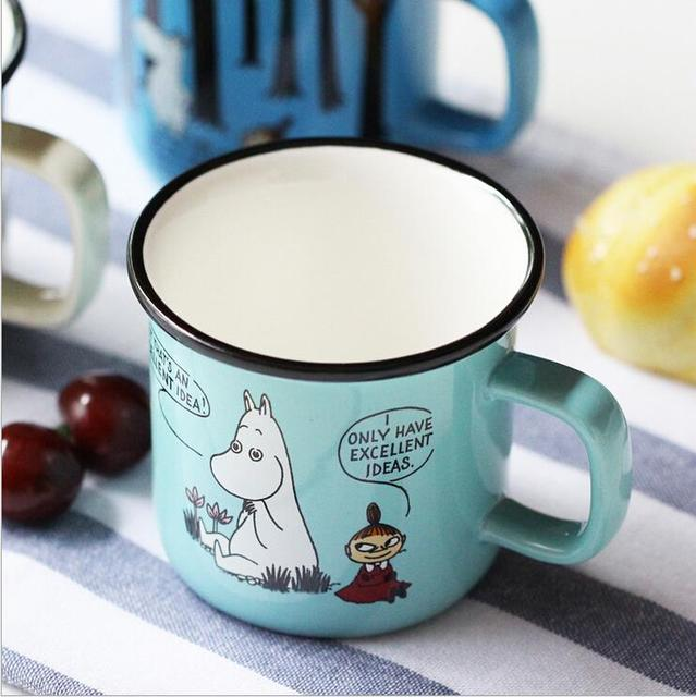 US $15 5 |Fun Porcelain Cartoon Moomin Thermos Cups Cute Ceramic Moomin  Coffee Mug Tea Beer Cup Water Drinking Bottles With Handgrip-in Mugs from  Home