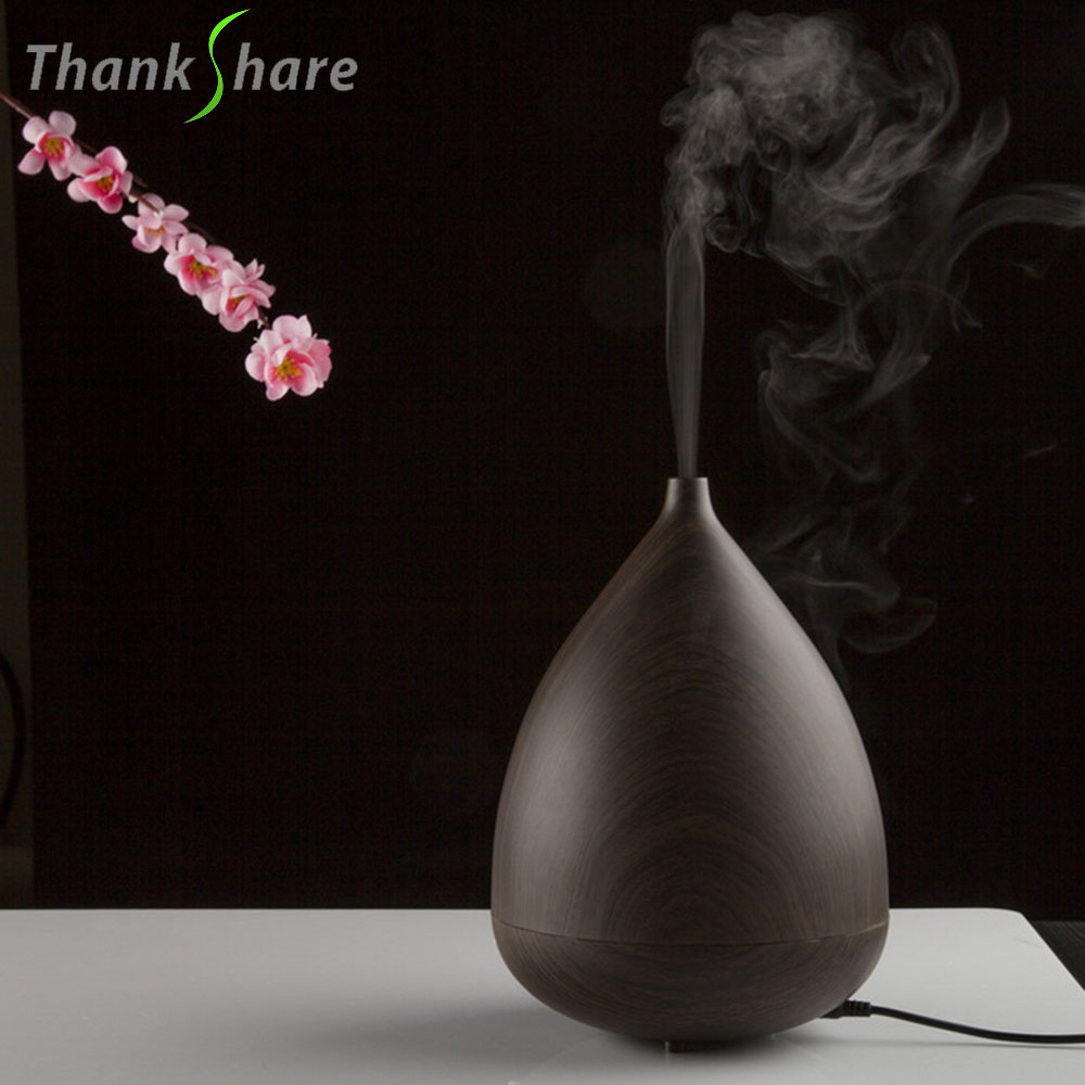 THANKSHARE Essential Oil Aroma Diffuser Ultrasonic Humidifier Aroma LED Light Auto Stop Air Purifier Mist Maker Aromatherapy