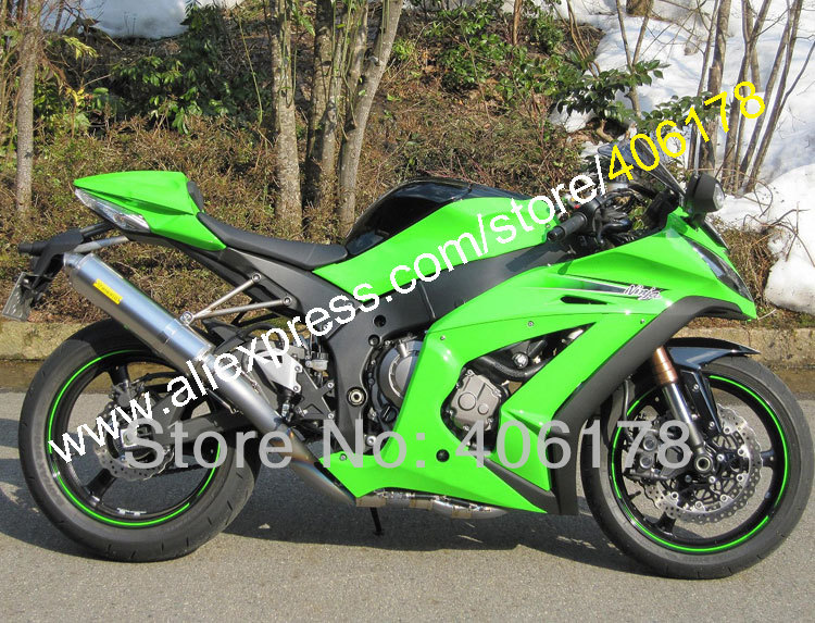 Hot Sales,ZX-10R 2011 2012 2013 2014 2015 Fairing Set For kawasaki Ninja ZX10R ZX 10R 11-15 Body green Kit (Injection molding) kemimoto radiator guard cover grille protector for kawasaki ninja zx 10r zx 10r 2008 2009 2010 2011 2012 2013 2014 zx10r