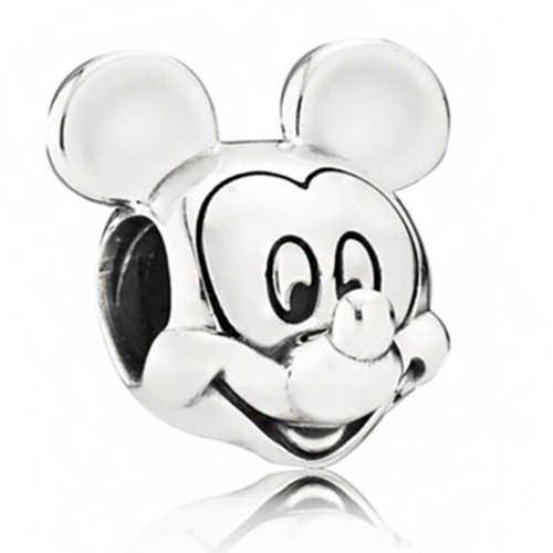 Do punk Do Vintage Cor Prata Bloqueio Corações Estrelas Tartaruga Trinket de Mickey Mouse Encantos Beads Fit Pandora Pulseiras DIY para As Mulheres Presentes