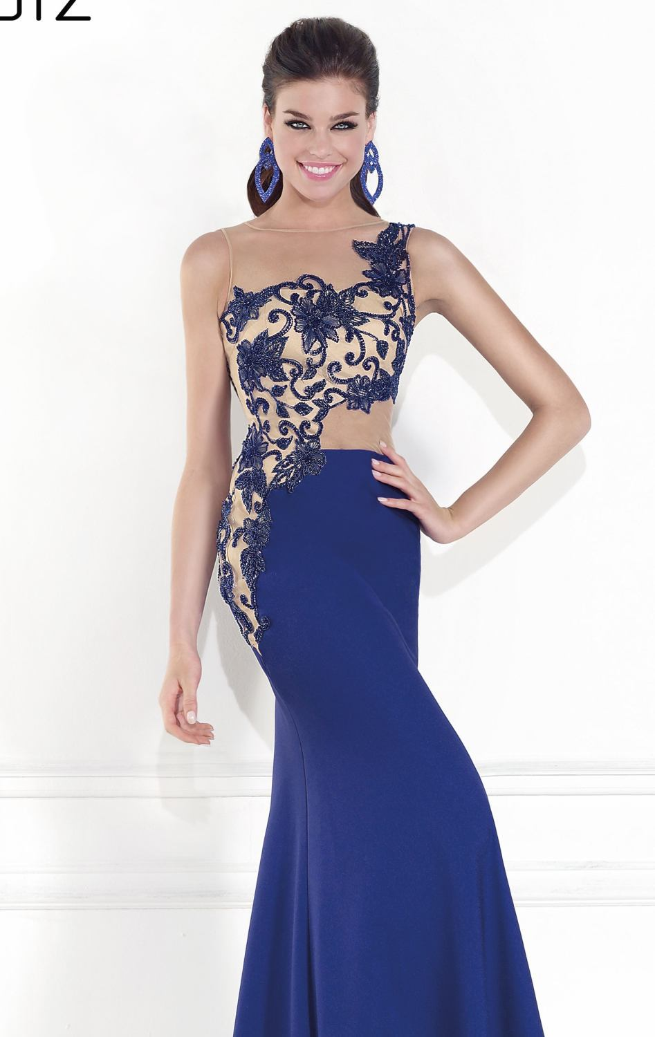 Remarkable Evening Gown Fitted Bodice Stunning Sheer Beading Royal Blue  Evening Dress Mermaid Long -in Evening Dresses from Weddings   Events on ... cec44d7fd87f