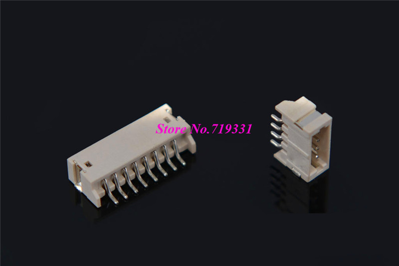 100pcs ZH 1.5mm Horizontal Male Connector Wafer SMD Socket 1.5mm Plug SH Pitch Pin Header Heat Resistance 2p 3p 4pin 6p 14p
