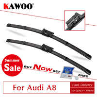 KAWOO For Audi A8 D2 D3 D4 Year From 1994 To 2017 Car Windscreen Wiper  Blades Natural Rubber Fit Push Button/U Hook/Slider Arms