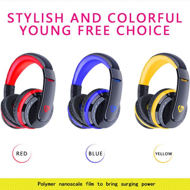 TOPROAD Big Bluetooth Headphones Wireless Headband Earphone Stereo Headset Support FM TF Card handsfree for Phones PC