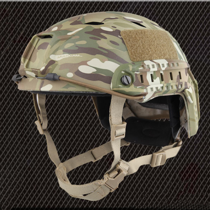 Highest Version Military Tactical Helmets Fast Base Jump Camouflage Adjustable Protective Helmet Airsoft Paintball Drill free shipment kevlar helmet airsoft paintball ballistic helmet fast bj green standard version helmet military tactics hat