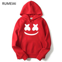 RUMEIAI 2017 Autumn Winter New Brand Marshmello Face Hoodies Men Casual Hoodies Sweatshirt Sportswear Male Fleece