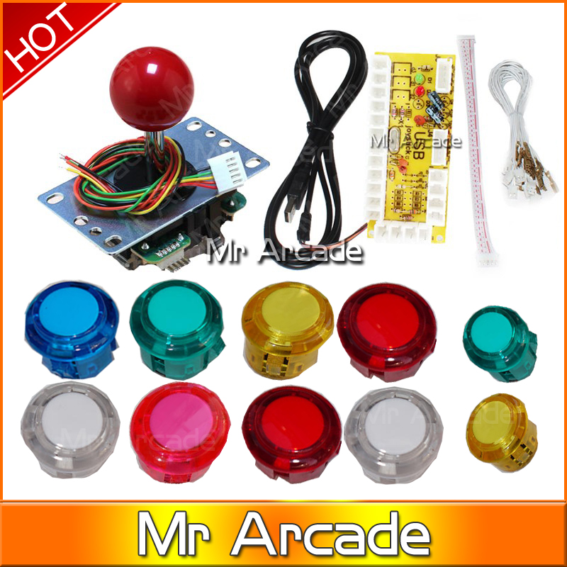 sanwa Joystick CRYSTAL OEM Push Buttons DIY Kit Zero Delay Arcade DIY USB Encoder To PC  Mame рубашка в клетку insight back to zero midnight oil