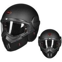 Новый BEON личность крутой мотоцикл открытый шлем из стекловолокна ретро Харли шлем мужчины и женщины Анти туман полный шлем