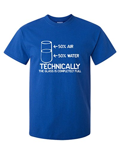 96f94c873 Technically The Glass Is Completely Science Sarcasm Funny Cool Humor T  Shirts Fashion T Shirt Men Clothing Top Tees-in T-Shirts from Men's Clothing  on ...