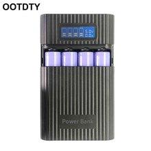 Anti Reverse DIY Power Bank Box 4x18650 bateria wyświetlacz LCD ładowarka do iphonea