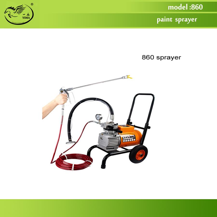 860 model Electric High Pressure Airless Paint Sprayer , Painting Machine, 8L flow,with double spray gun professional piston airless portable power airless electric paint sprayer with spray gun painting machine f4500