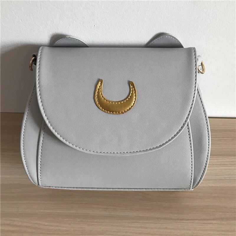 Kawaii sailor moon luna cat cadena de hombro bolso de las señoras de la pu bolso