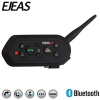 EJEAS E6 1200m 6 People VOX Bluetooth Motorcycle Intercom Headset For Half Full Face KTM Helmets