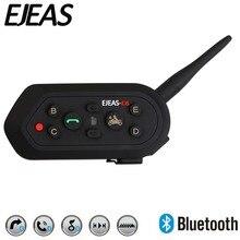 EJEAS E6 1200m 6 osób VOX Bluetooth interkom motocyklowy zestaw słuchawkowy na pół pełna twarz KTM kaski odtwarzanie muzyki MP3 GPS