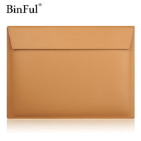 2016 Premium Real Genuine Leather Flap Sleeve Bag Case Notebook Cover Pouch For MacBook 11 12