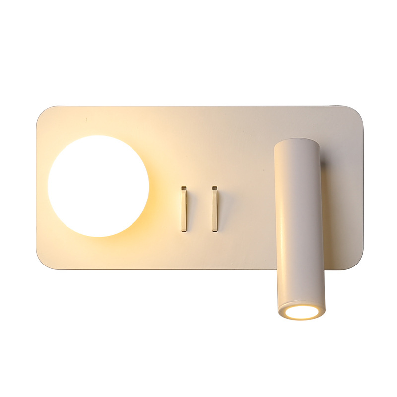 Rotatable 2 Lights LED Wall Lamp Bedroom Bedside Wall Lights Living room Corridor Wall Sconce White Body Reading Lamp Home Light in LED Indoor Wall Lamps from Lights Lighting