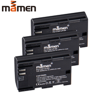 Mamen 3pcs 2600mAh LP E6 LP E6 LPE6 Digital Camera Battery For Canon EOS 5D Mark 2 Mark 3 6D 7D SV 60D Rechargeable Battery Pack