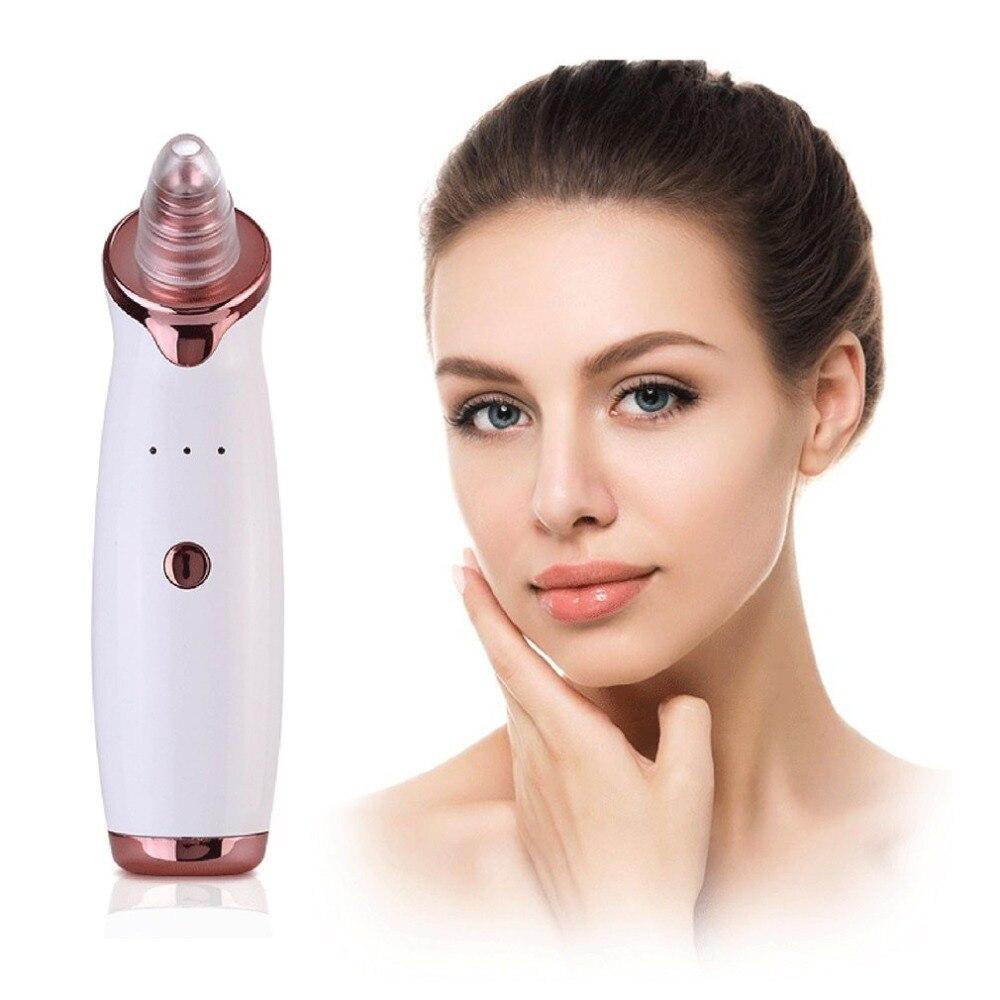 Facial eléctrico vacío limpiador de poros acné espinilla máquina extractora USB recargable un limpiador de belleza herramienta de cuidado de la piel