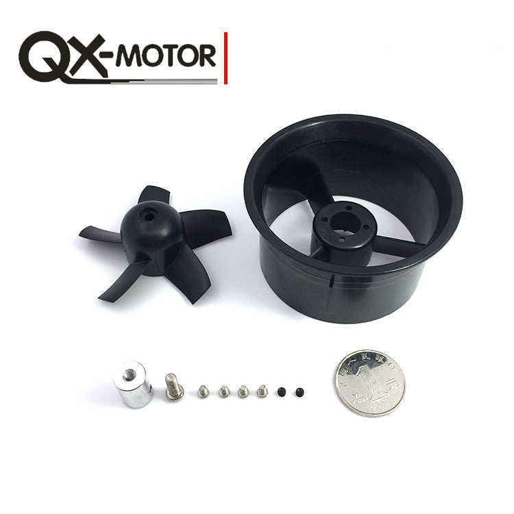 QX-MOTOR 64mm Ducted Fan Barrel EDF Without Motor RC Accessories for RC Airplanes F22148 5 blade 64mm outrunner ducted fan 4300kv brushless motor 30a esc for lipo rc jet edf plane airplane fan