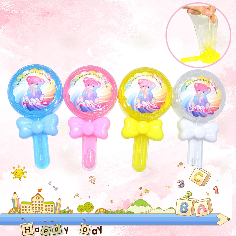1PCS DIY Lollipop Crystal Slime Mud Modeling Children Intelligent Plasticine Magic Cute Clay Playdough Lizun Gift