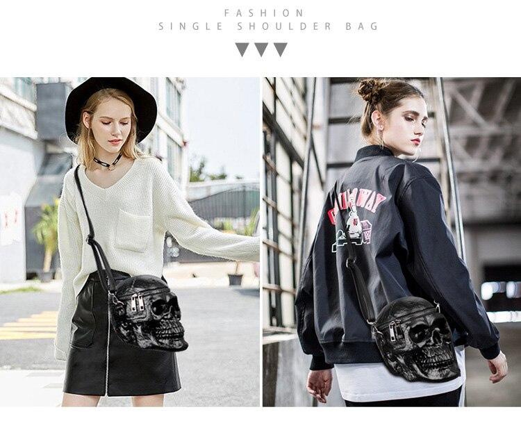 Black Skull Shoulder Bag