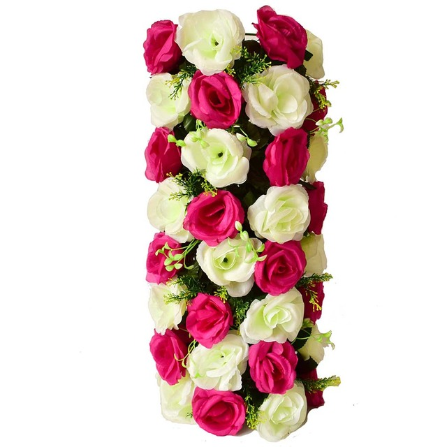 Rose Artificial flowers wall Lawns Plastic Garden party Wedding ...