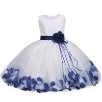 שמלה חדשה 2018 טול ילדה פרח תינוק אפור פלאפי שמלת כלה כדור שמלת ערב יום הולדת טוטו המפלגה שמלה לנשף הלבשה