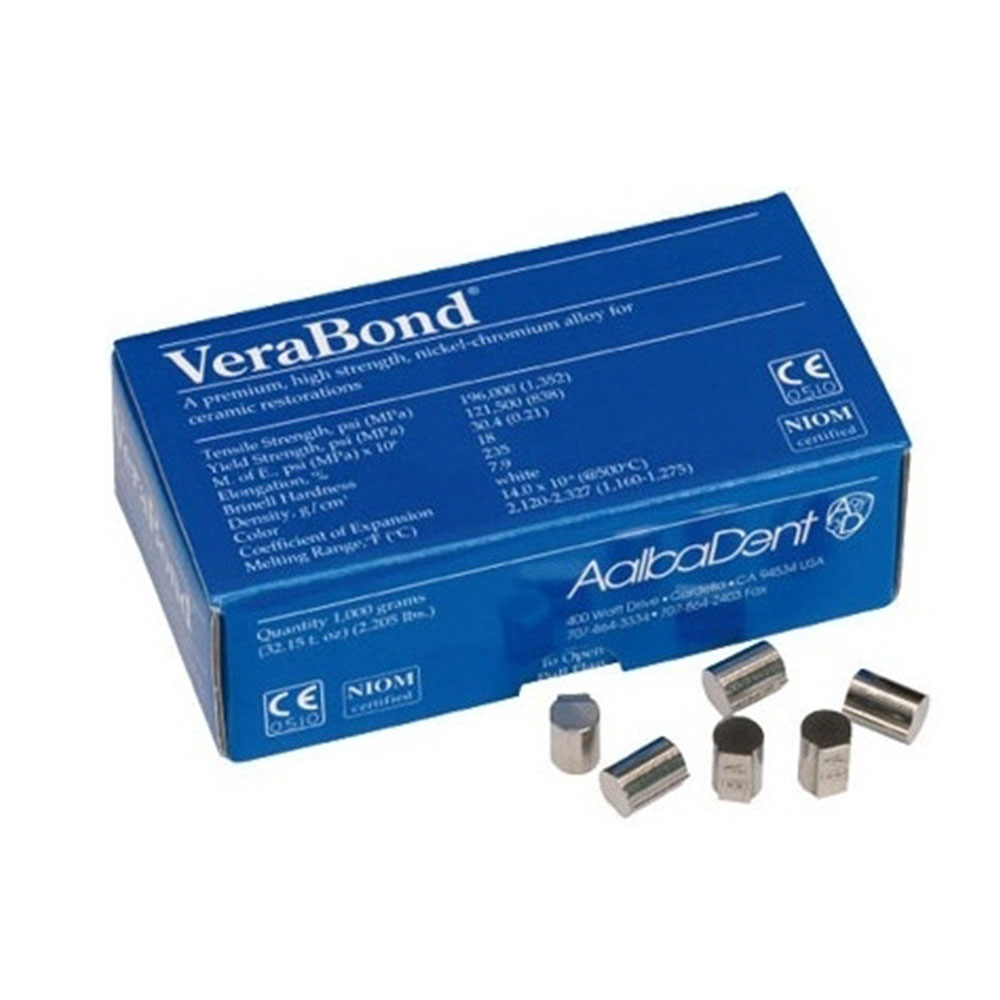 VeraBond Premium High Strengtn Nickel-chromium Alloy (With Be) For Ceramic Restorations