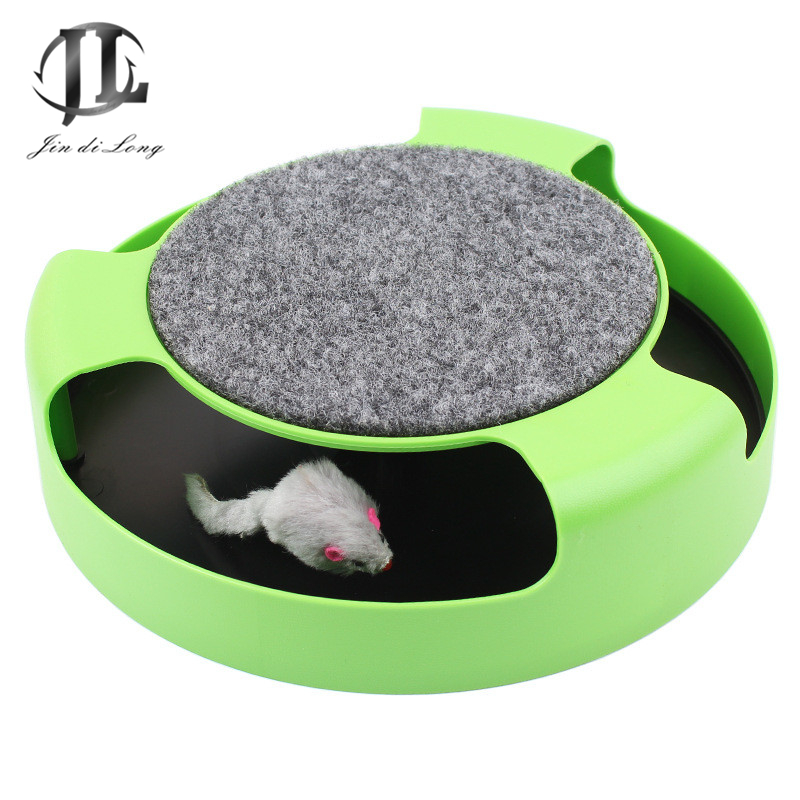 2018 Today's Deals New Pet Mouse Toy Automatic Rotating Circular Disc Recreational Fun Cat Toy Slip Matte Surface