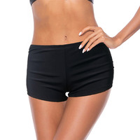 New 2018 sexy Designer Single piece swimming trunks swimwear women bathing suits beach wear black Flat shorts Bikini bottoms