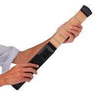 Portable Pocket Acoustic Guitar Practice Tool Guitar PartsGadget Chord Trainer 6 String 6 Fret Model For