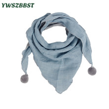New Spring Cotton Baby Triangle Scarf Pure Color Autumn Winter Infant Girls Bibs Scarf Baby Boys Scarf Toddler Burp Cloth