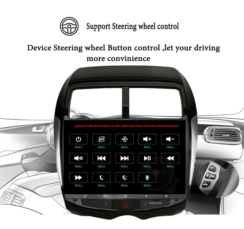 Android 9,1 Автомобильный мультимедийный dvd плеер gps навигация для MITSUBISHI ASX RVR Outlander Sport 2010 2014 магнитофон Аудио Видео - 2