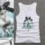 Moda Sexy mujer de la Mano que rebordea color Sólido Del cuello de O Tank top de Las Mujeres 95% Algodón de los cabritos singlet top girls elegante verano camiseta