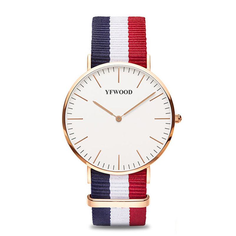 Sport Watches for Men Women Ultra Slim Quartz Watch with Simple Nylon Band Relogio Masculino Wristwatches Drop Shipping
