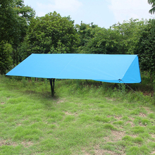 PSKOOK Outdoor Sun Shelter Sun Shade Waterproof Rainfly Camping Cushion Hiking Ultralight Tarp Survival Shelter (2.9m*3m) 1pc