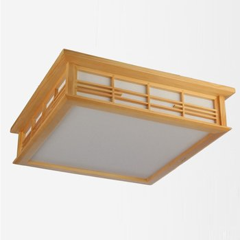 японский каркас кровати   Японский Светодиодный потолочный светильник для спальни из дерева, традиционный потолочный светильник для кабинета, гостиной, ресторана, п...