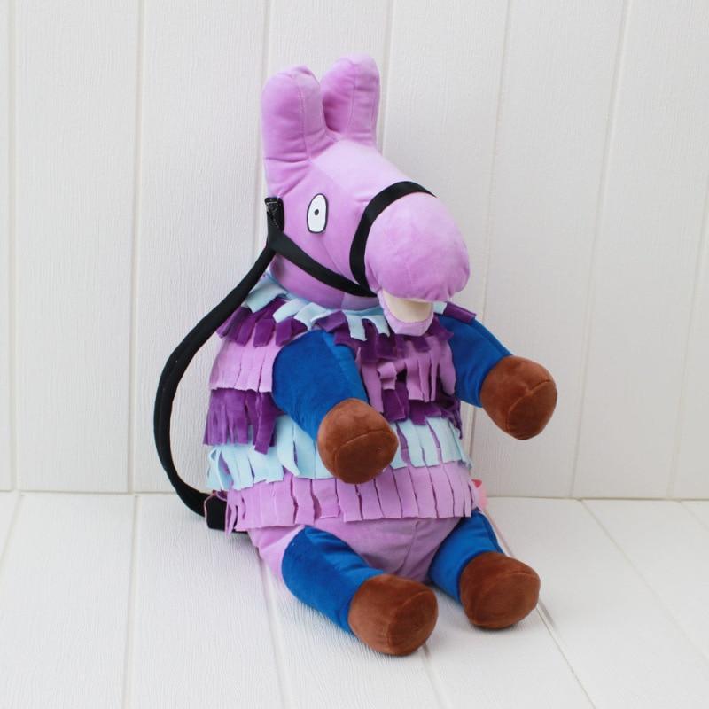 Battle Royale Stash Llamas Alpaca Cosplay Backpack Rainbow Horse School Bag Plush Toys Children Halloween Gifts (4)