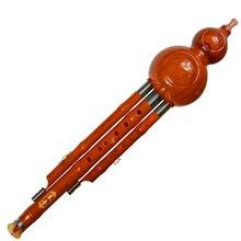 Bakelite Three Tone Hulusi Flute C/bB Key Gourd Flauta Crashproof Dampproof Calabash Flute Hulusi Folk Instruments Flutes Hulusi