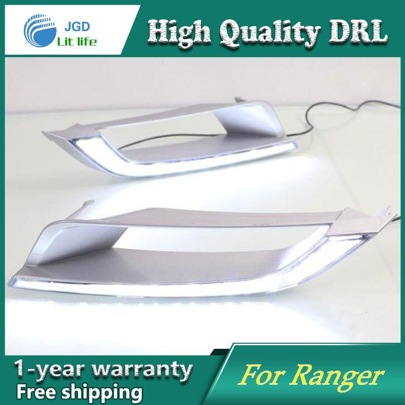 Case For Ford Ranger 2016 Turning Signal Relay Waterproof Car DRL 12V LED Daytime Running Light Fog Lamp ranger side stripe graphic vinyl sticker for ford ranger car decals
