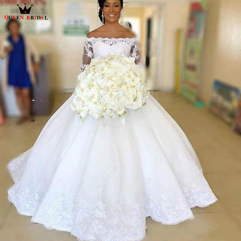 Wedding Gowns Sa: Custom Made Empire Long Sleeve Fluffy Lace Beading Plus