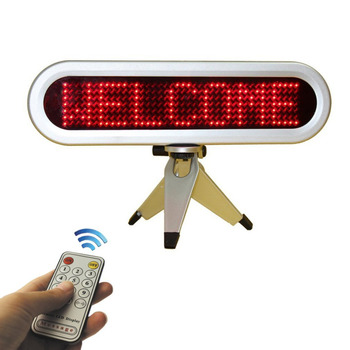 цена на Pixels 7x41 LED Car Sign Commercial Lighting Moving Message Display For Car Advertising Red LED USB Programmable Display Board