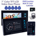 "Free shipping!7"" Door Phone Bell WD02SRR12 HD Camera 2x Monitor Intercom DVR 8GB Remote Control ID Card"