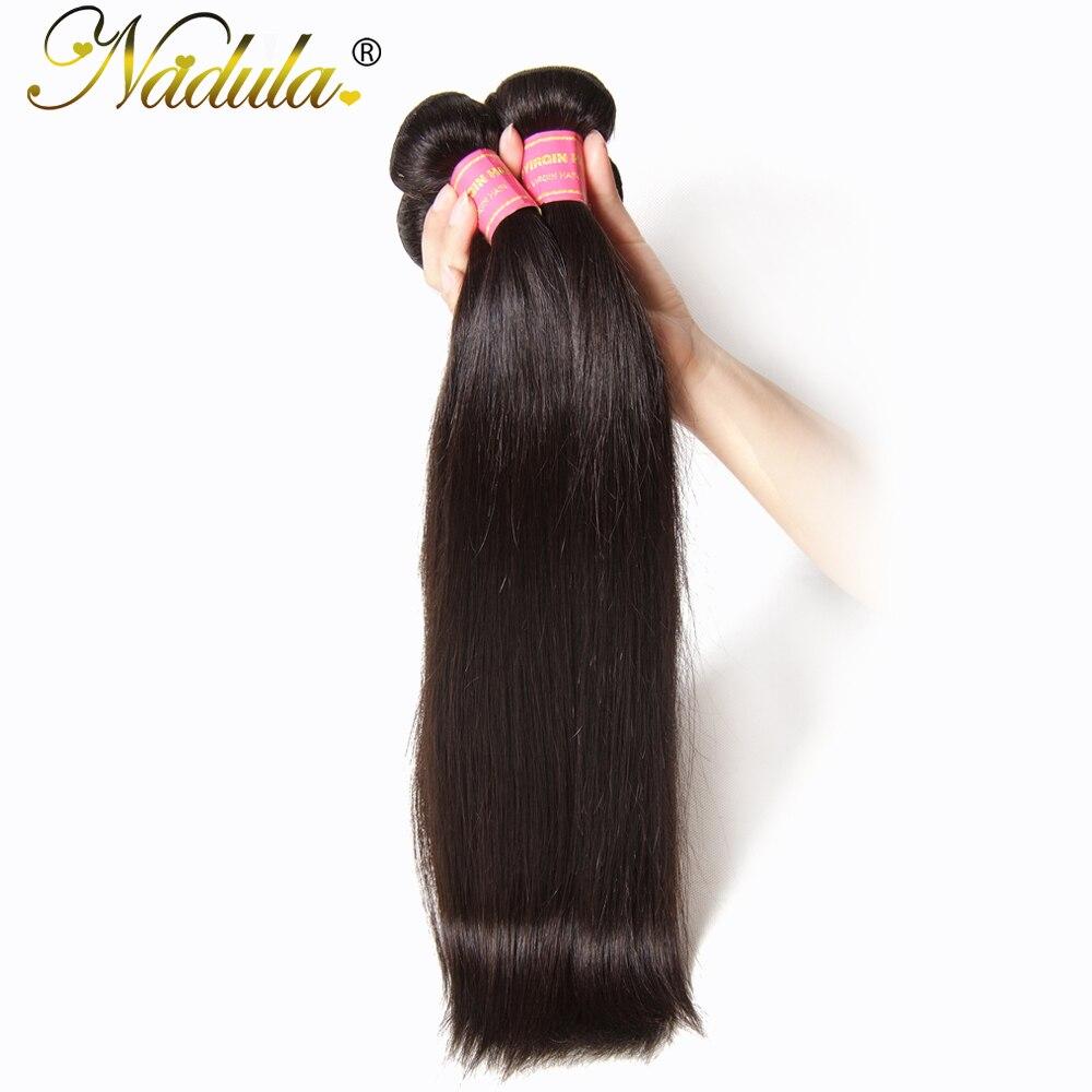 Nadula Hair 1Bundle Peruvian Virgin Hair Weave 100% Unprocessed Straight Human Hair Weft Natural Color Free Shipping
