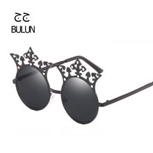 b6e2ecf71839c BULUN 2018 Newest Vintage Round Sunglasses Women Brand Designer Rhinestone  Shades Circle Red Yellow Unique Metal Eyewear UV400