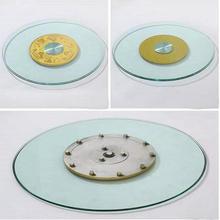 HQ GL01 топ из закаленного стекла 70 см/80 см/90 см Lazy Susan со стеклянным поворотным столом поворотная пластина для обеденного стола