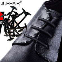 JUP 1 set No Neckties Shoelaces Elastic Silicone Leather Laces For Men Women All Sneakers Fit Gurt Business Shoe Strings 3cm-5cm все цены